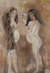 Dos mujeres embarazadas