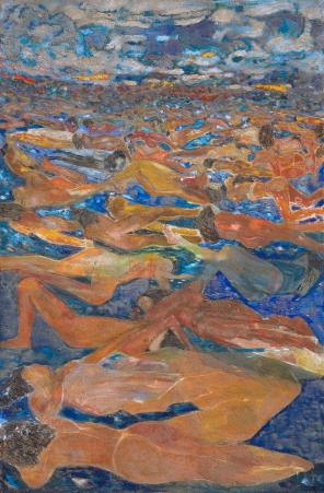 Figuras tumbadas en el mar II